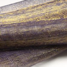 Dark Violet with Gold Thread Sinamay